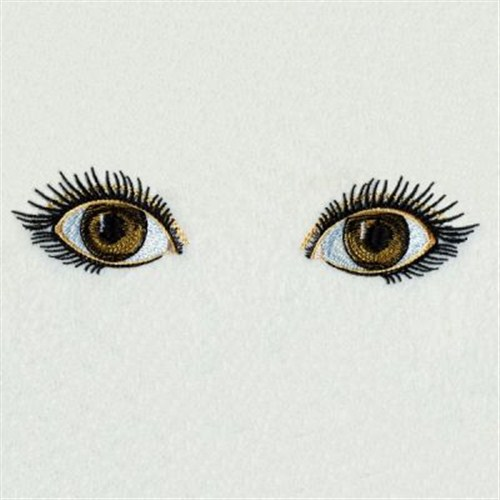 Realistic eyes embroidery designs machine