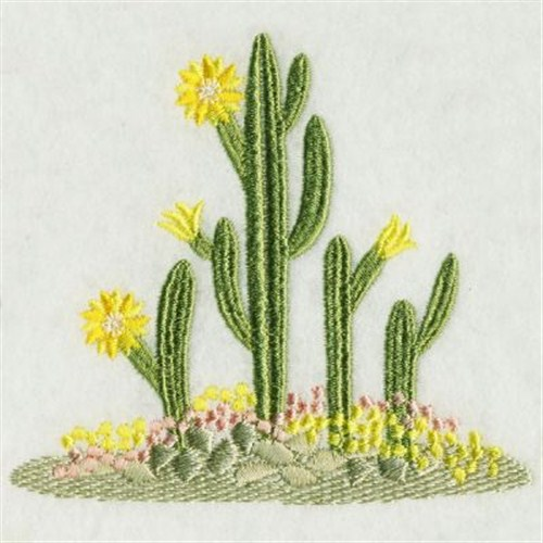 Blooming Cactus Embroidery Designs Machine Embroidery Designs At