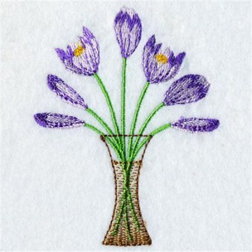 Vase of flowers embroidery designs machine