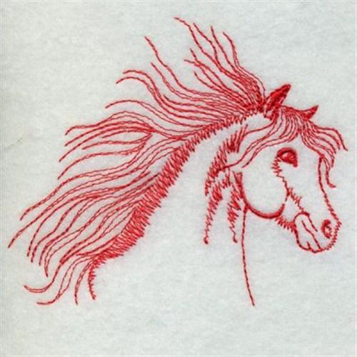 Redwork horse embroidery designs machine