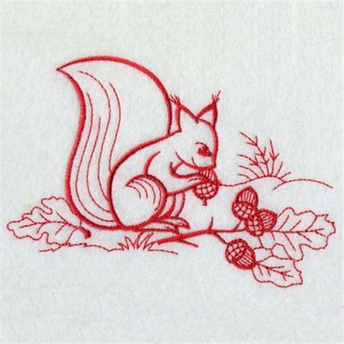 Squirrel Redwork Embroidery Designs Machine Embroidery Designs At
