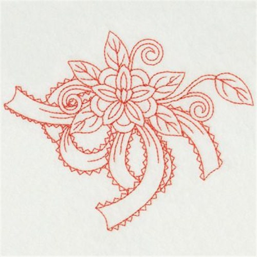 Redwork ribbons embroidery designs machine