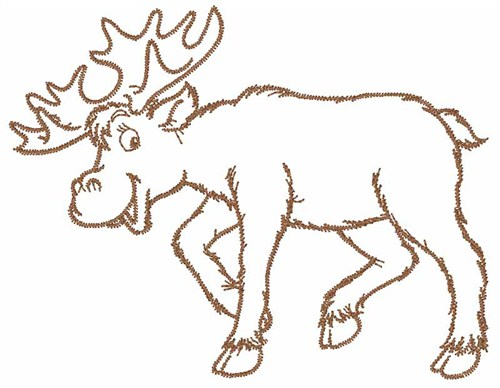Moose Outline Embroidery Designs Machine Designs At