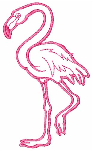 Flamingo Outline Embroidery Designs Machine Embroidery Designs at