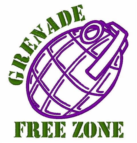 Grenade free zone embroidery designs machine