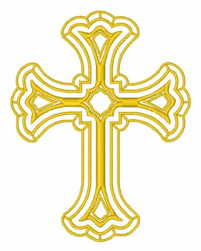 Religious cross embroidery designs machine