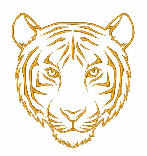 Tiger Head Outline Embroidery Designs, Machine Embroidery ...