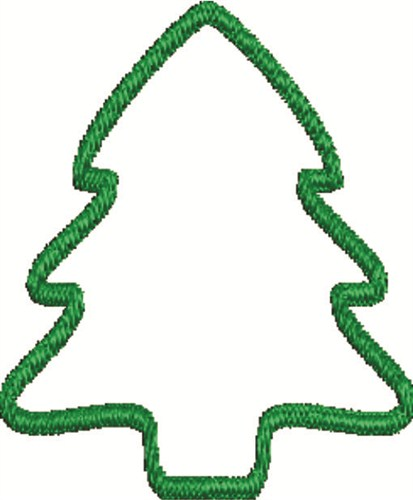 Christmas Tree Outline.Christmas Tree Outline Embroidery Design