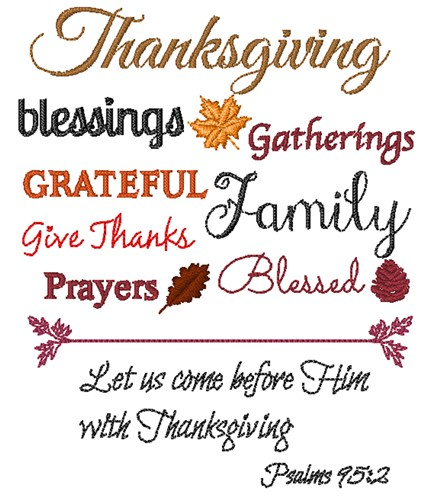 Thanksgiving Blessings Embroidery Designs Machine Embroidery Designs At Embroiderydesigns Com