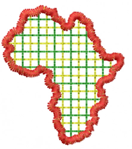Africa Plaid Embroidery Designs Machine Embroidery