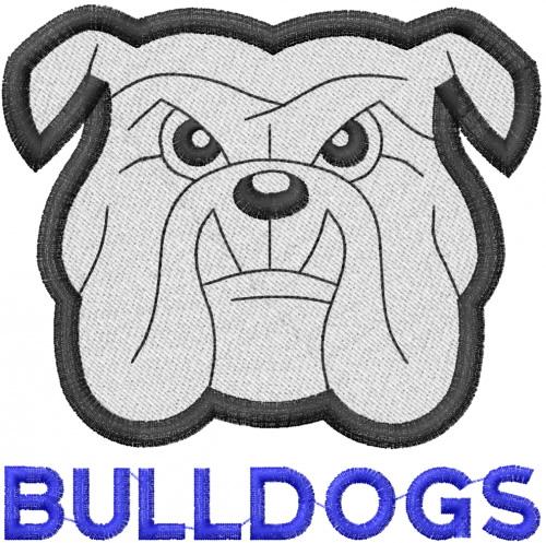 Bulldog head w lettering embroidery designs machine