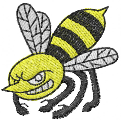 Snarling bee embroidery designs machine