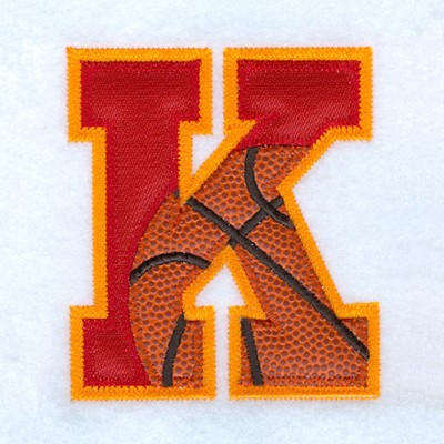 K Basketball Applique Embroidery Designs Machine Embroidery Designs