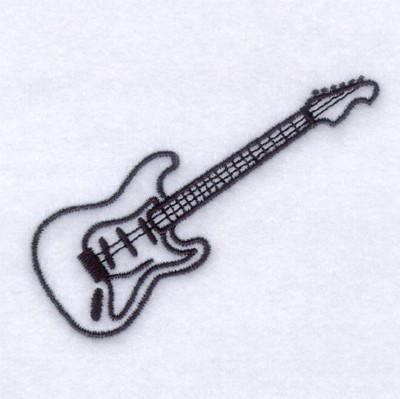 Electric Guitar Outline Embroidery Designs Machine Embroidery