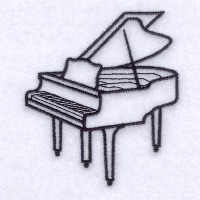 Piano Outline Embroidery Designs Machine Embroidery