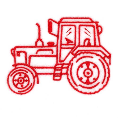 Tractor outline embroidery designs machine