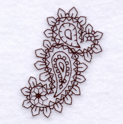 Paisley Outline 1 Small Embroidery Designs Machine Embroidery
