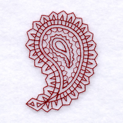 Paisley Outline 4 Small Embroidery Designs Machine Embroidery