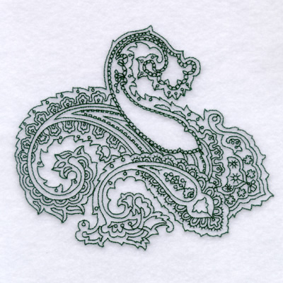 Paisley Outline 2 Large Embroidery Designs Machine Embroidery