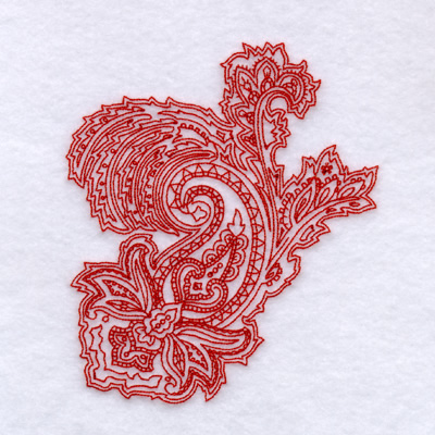 Paisley Outline 3 Large Embroidery Designs Machine Embroidery