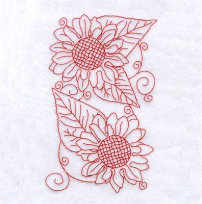 Sunflower Redwork Embroidery Designs Machine Embroidery Designs At