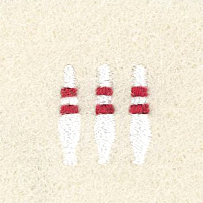 Mini Bowling Pins Embroidery Design