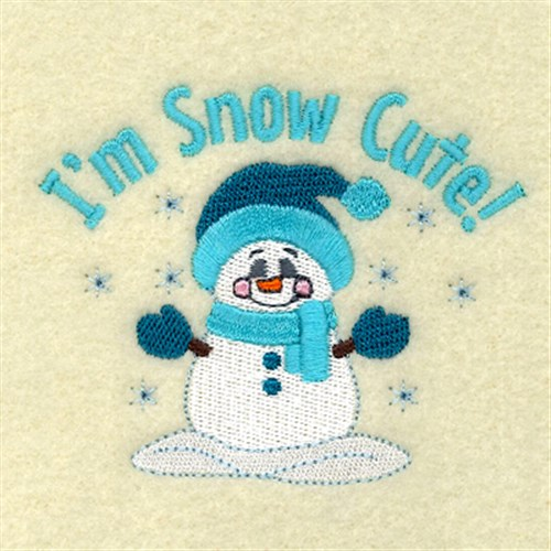 Im Snow Cute Embroidery Designs Machine Embroidery Designs At
