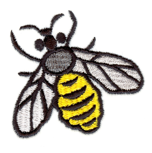 Large bee embroidery designs machine