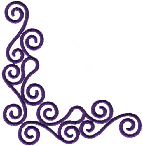 Wave Corner Embroidery Designs, Machine Embroidery Designs ...