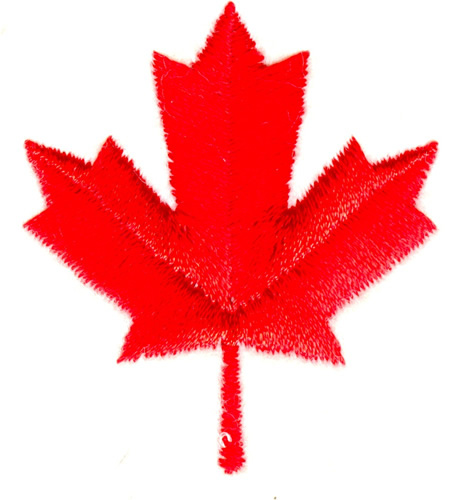 Canadian maple leaf embroidery designs machine