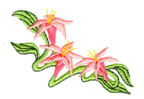 Small Lily Corner Embroidery Designs Machine Embroidery Designs At