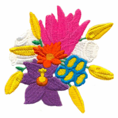 Rainbow bouquet embroidery designs machine