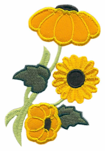 Sunflower Applique Embroidery Design