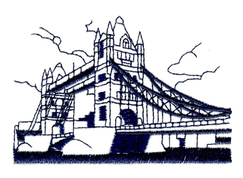 Tower bridge london embroidery designs machine