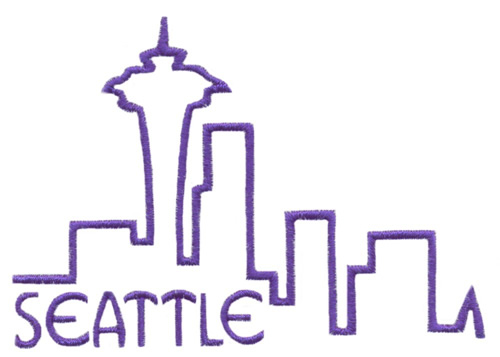 Skylines Seattle Embroidery Designs Machine Embroidery Designs