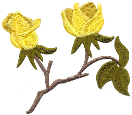 Yellow roses embroidery designs machine
