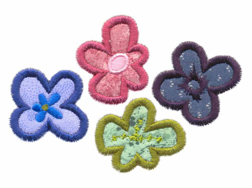 Funky flowers applique embroidery designs machine embroidery