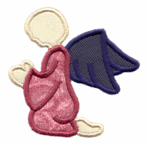Kneeling Angel Applique Embroidery Designs Machine Embroidery