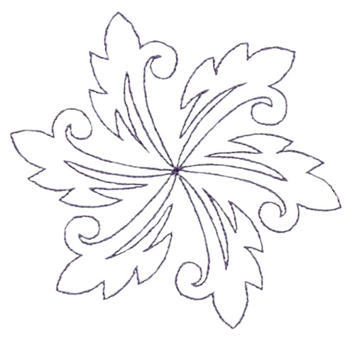Circular Swoosh Pattern Embroidery Designs Machine Embroidery