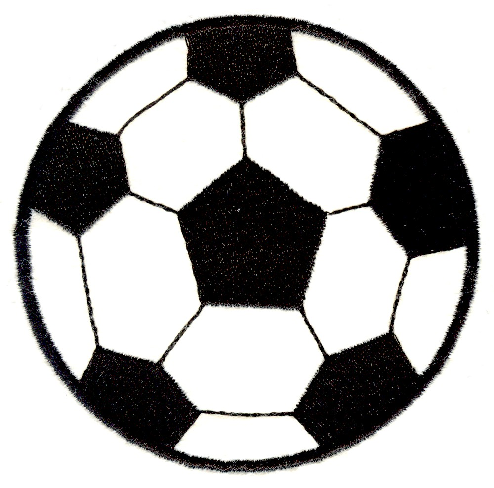 Stitchitize Embroidery Design: Large Soccer Ball 3.94 Inches H X ...