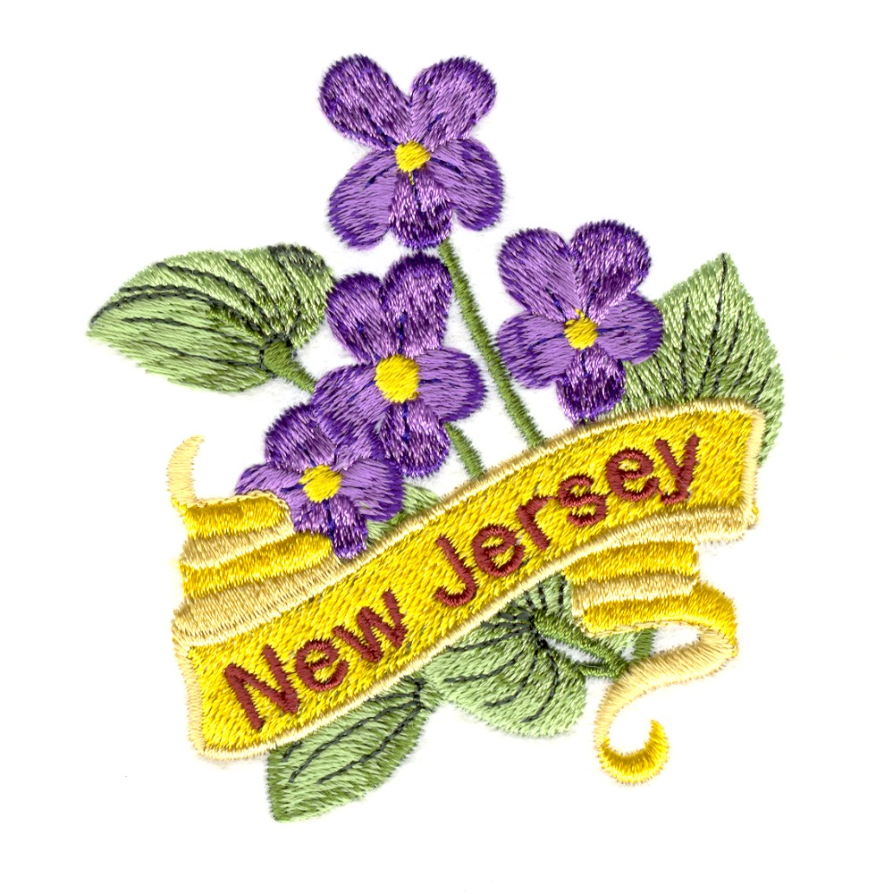 New jersey violet embroidery designs machine
