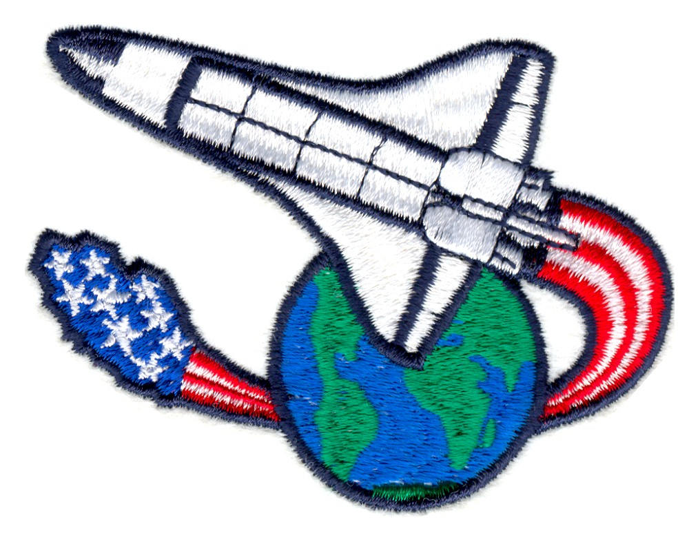 American space shuttle embroidery designs machine for Space embroidery patterns