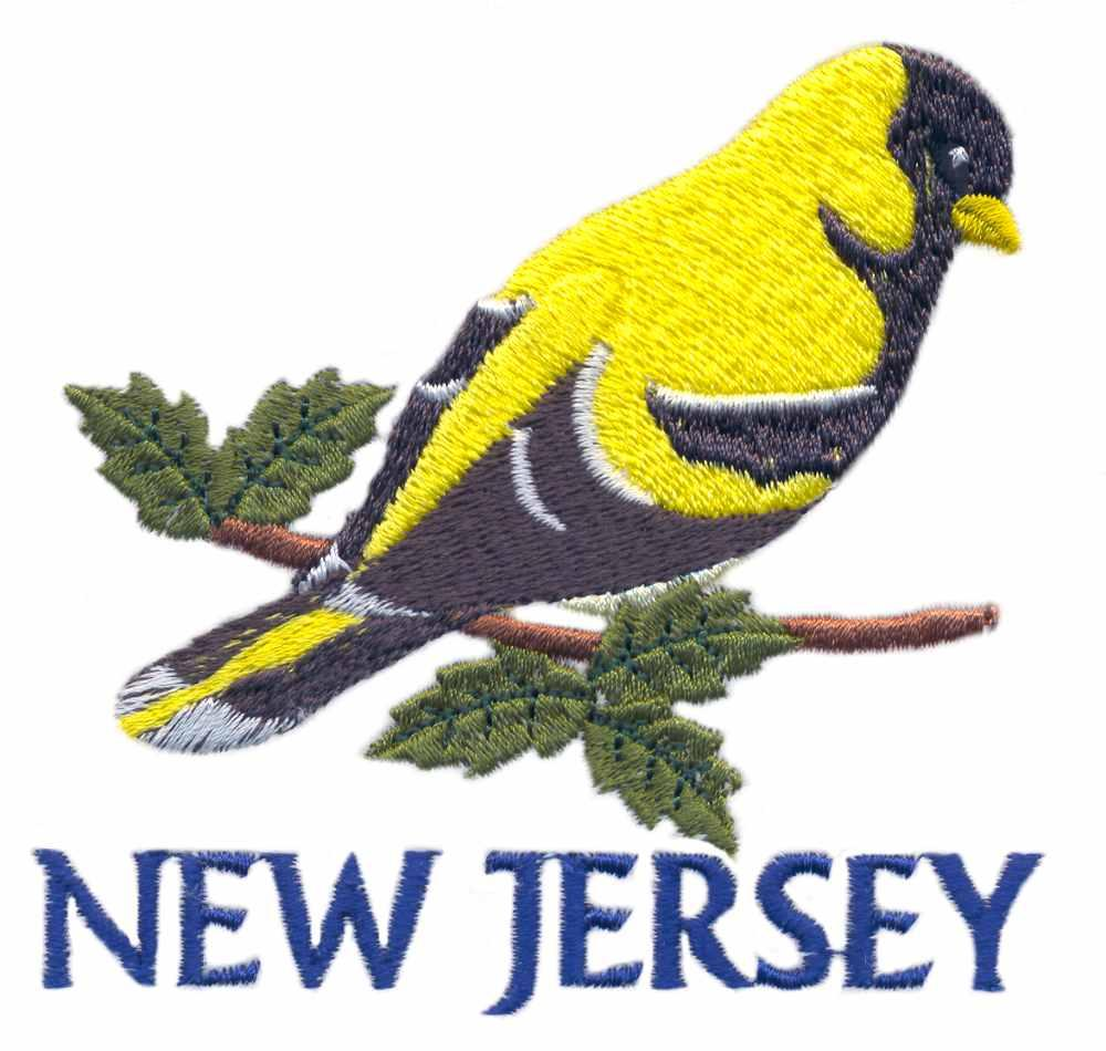 New Jersey Goldfinch Embroidery Designs Machine Embroidery Designs