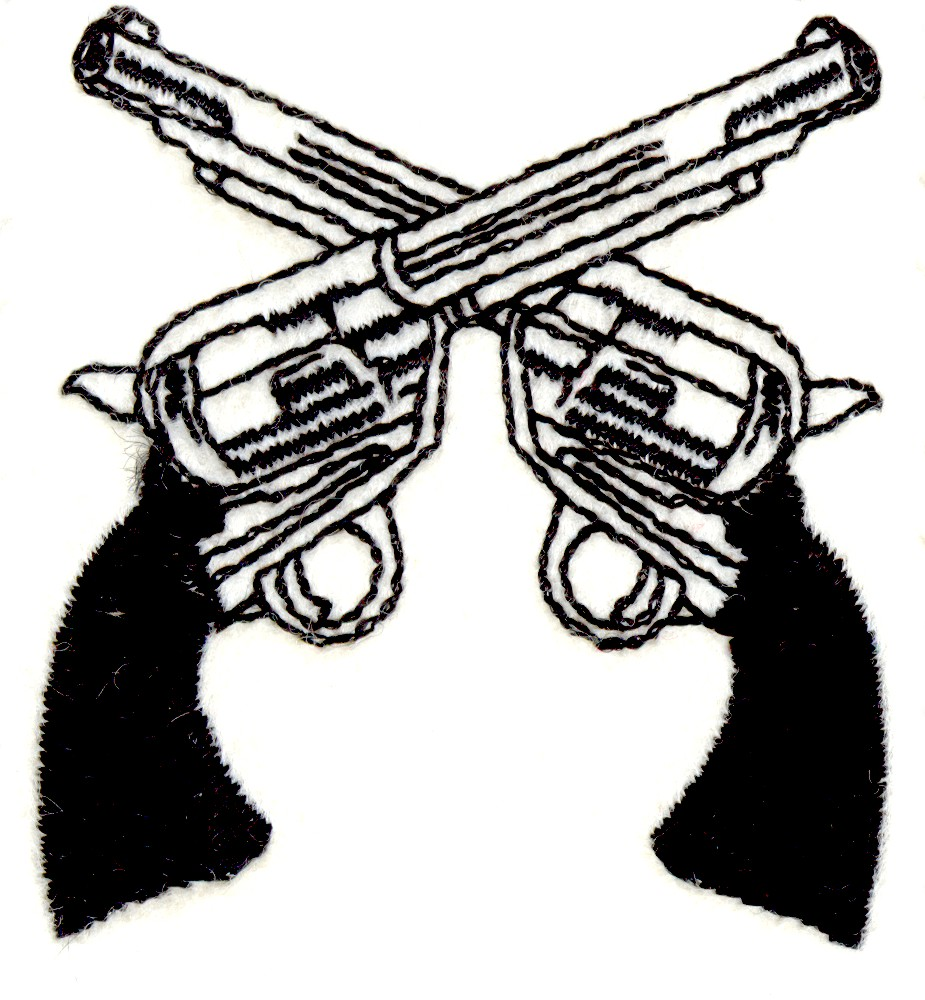 Crossed Guns Embroidery Designs, Machine Embroidery ...