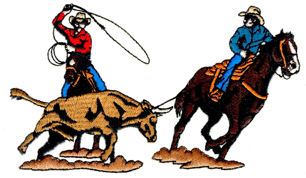 team roping embroidery designs  machine embroidery designs team roping clipart team roping clip art with cross