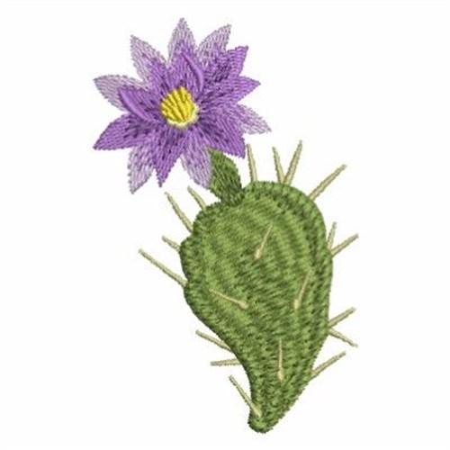 Purple cactus flower embroidery designs machine