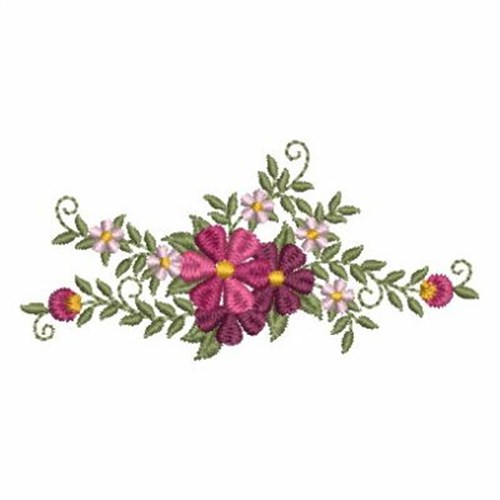 Flower beauties border embroidery designs machine