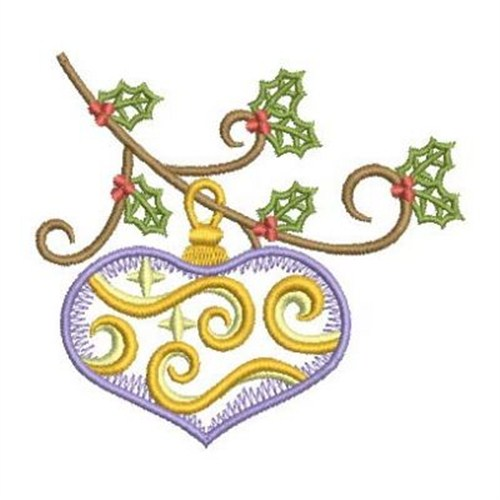 Vintage christmas ornament embroidery designs machine
