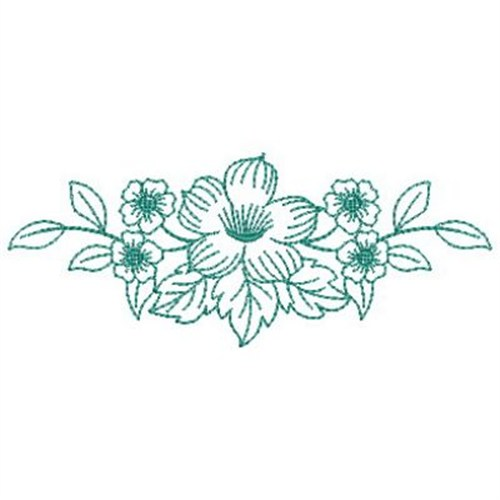 Flower border embroidery designs makaroka