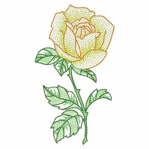 Vintage yellow rose embroidery designs machine